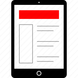 design, ipad, mockup, tablet icon