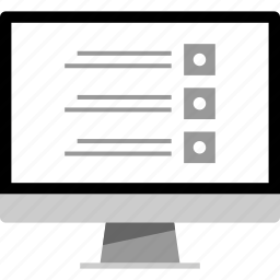 check, list, online, web icon
