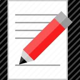 editor, page, report, write icon