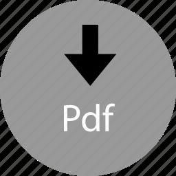 down, download, pdf icon