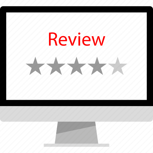 hotel, rating, review, web icon