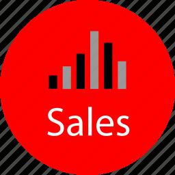 good, high, sales, volume icon
