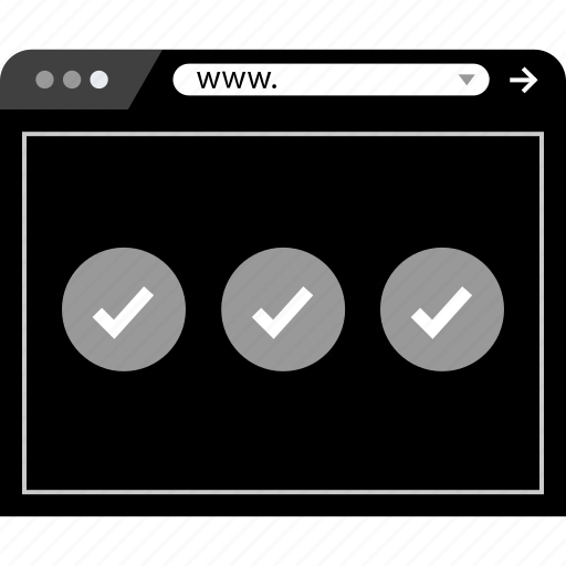 check, marks, mockup, web icon