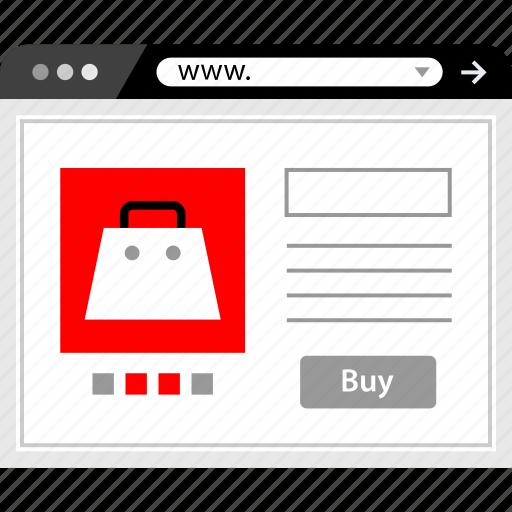 accessory, marketing, web, www icon