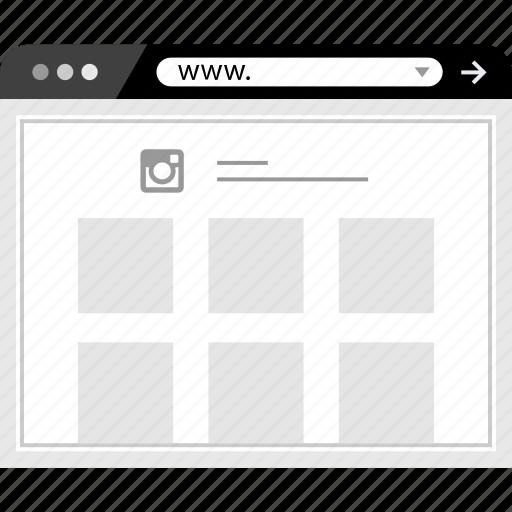 browser, instagram, web, www icon