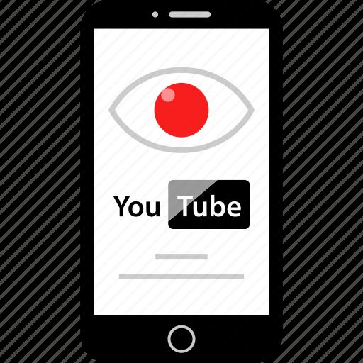 eye, look, views, youtube icon