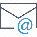 at, communication, email, internet, mail icon