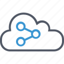 cloud, communication, data, internet, save, upload icon