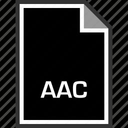 aac, extension, sleek icon