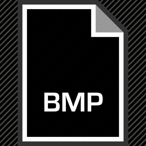 bmp, extension, sleek icon
