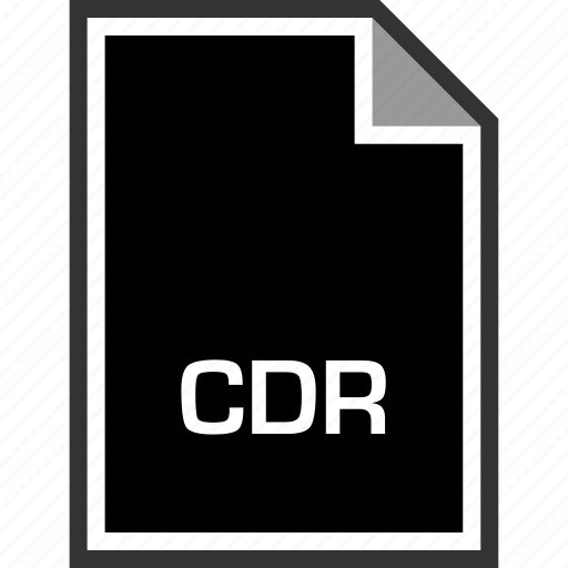 cdr, extension, sleek icon
