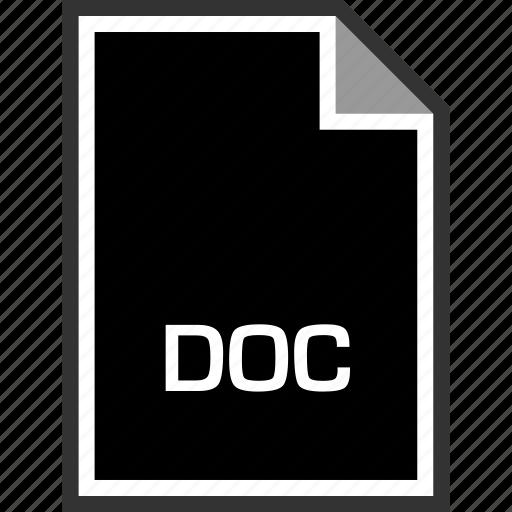 doc, extension, sleek icon