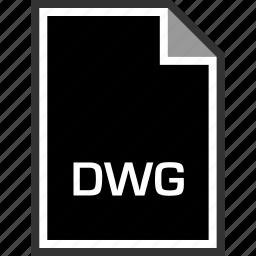 dwg, extension, sleek icon