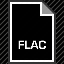 extension, flac, sleek icon