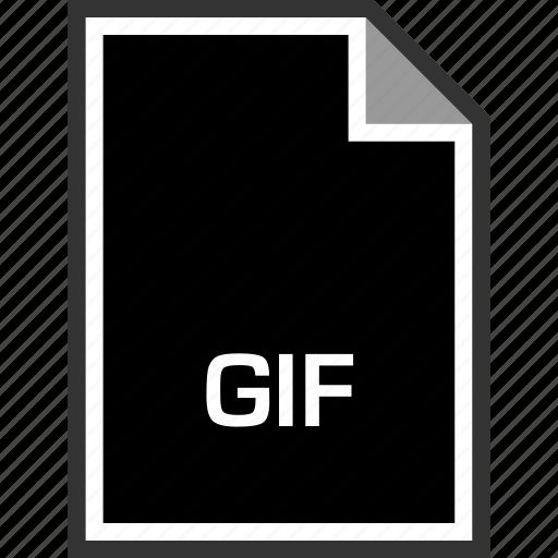 extension, gif, sleek icon