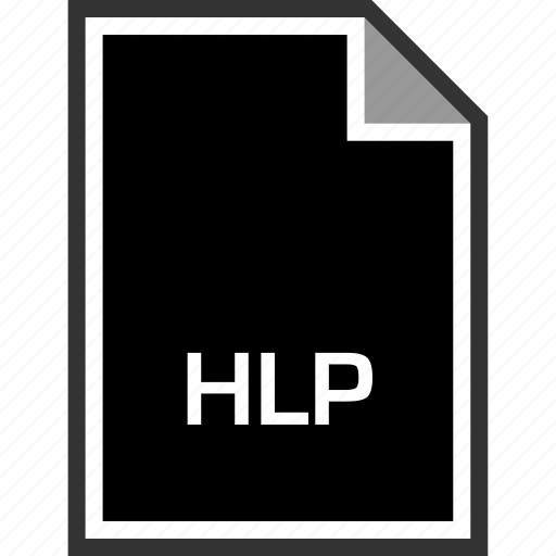 extension, hlp, sleek icon