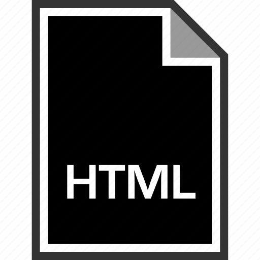 extension, html, sleek icon