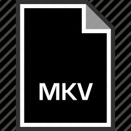extension, mkv, sleek icon