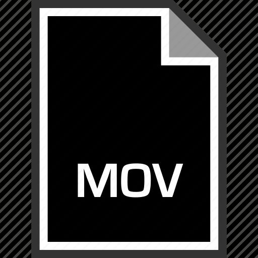 extension, mov, sleek icon