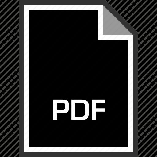 extension, pdf, sleek icon