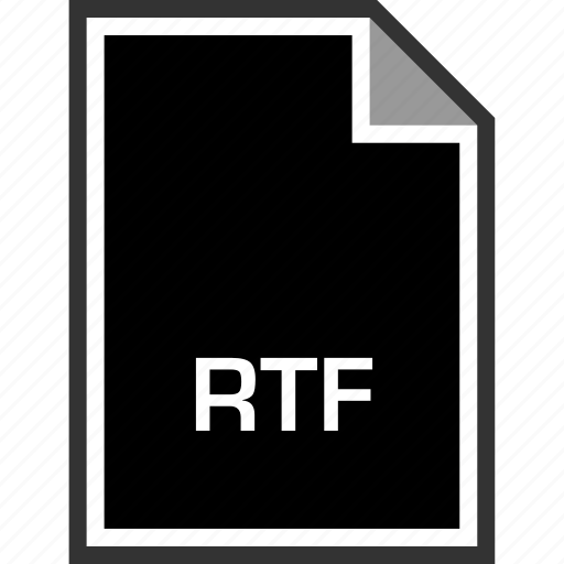 extension, rtf, sleek icon