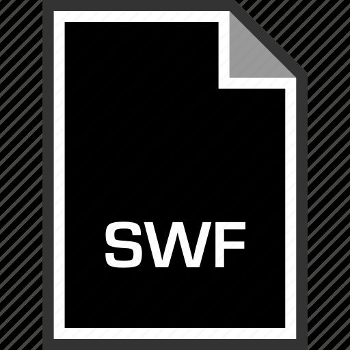extension, sleek, swf icon