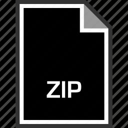 extension, sleek, zip icon