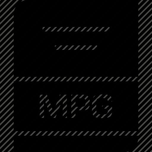 document, file, mpg icon