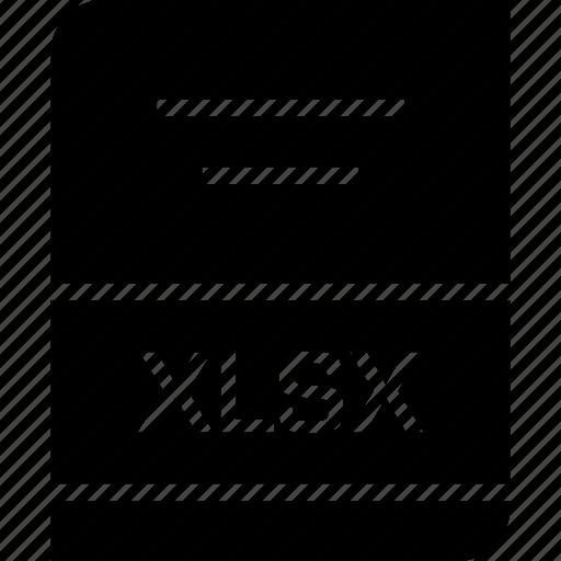 document, file, xlsx icon
