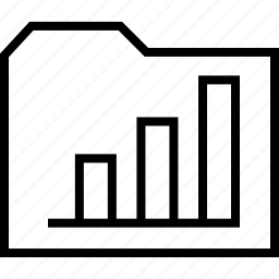 bars, data, folder, graph, report icon