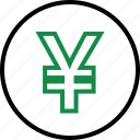 business, coin, currency, money, web, yen icon
