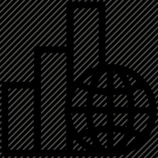 Analytics, globe, online business, transaction, world icon - Download on Iconfinder