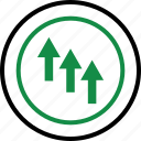 arrows, business, good, interest, rate, up icon