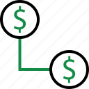 business, connect, dollar, internet, money, sign, web icon