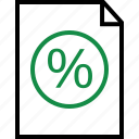 contract, document, online, page, percentage, rate icon
