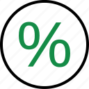 business, intrest, page, percentage, rate, revenue icon
