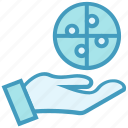 business, circle, hand, online business, problem, solving icon