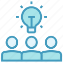 bulb, business, creative, idea, office, online business, users icon