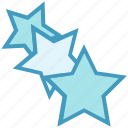 achievement, business, favorite, rank, stars, three stars icon