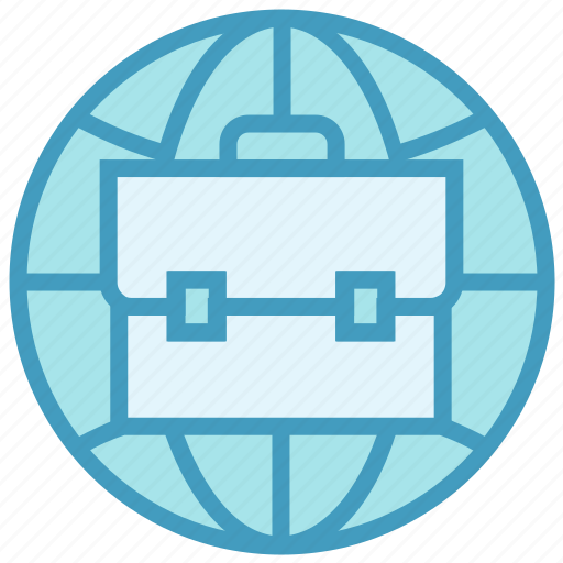 business, globe, international job, online business, online job, portfolio icon