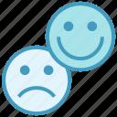 business, customer, emoji, happy, sad, satisfaction