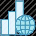 analytics, globe, online business, transaction, world