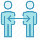 arrow, online business, persons, sharing, teamwork, users icon