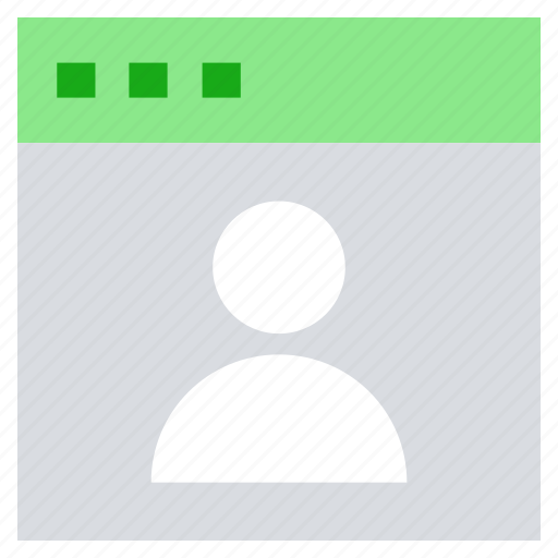 business, online business, user, user page, web page icon