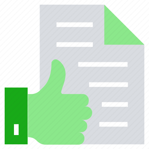 business, like, paper, recommended, thumb, up thumb icon