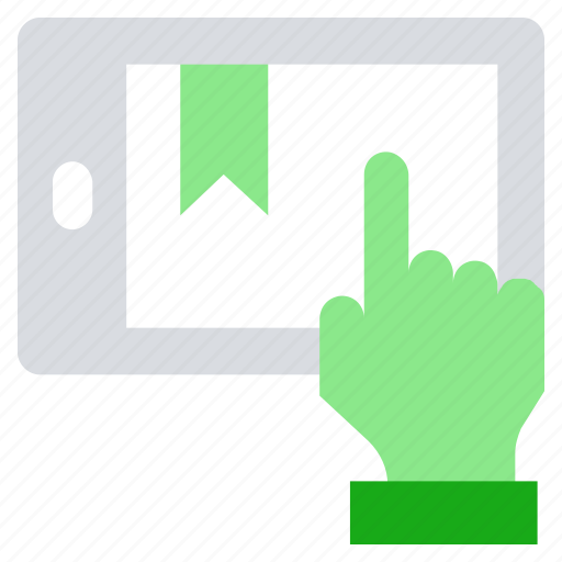 click, online business, ribbon, smartphone, touch mobile icon
