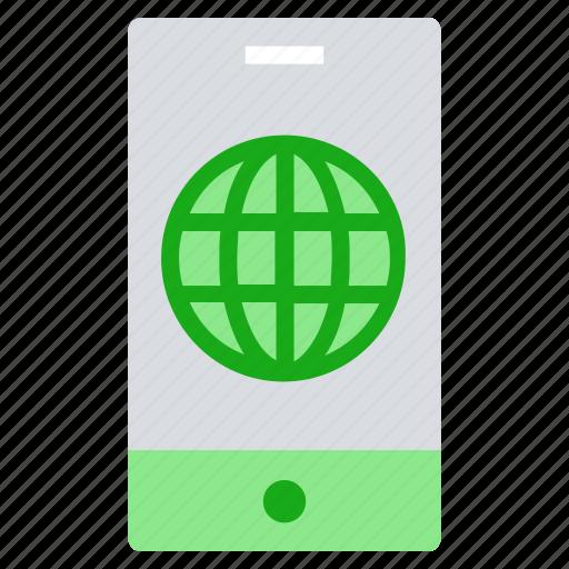 explorer, globe, internet, mobile, online business, smartphone, world icon