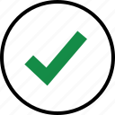 approved, business, check, good, mark, ok icon