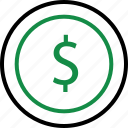 business, buy, coin, dollar, money, pay, sign icon