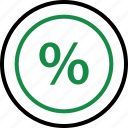 business, finance, interest, percent, percentage, rate, revenue icon